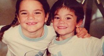 Кайли и её сестра в детстве
