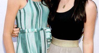 Кайли с сестрой в подростковом возрасте
