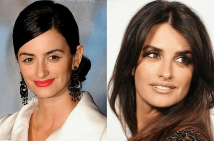 Пенелопа Крус до и после пластики носа