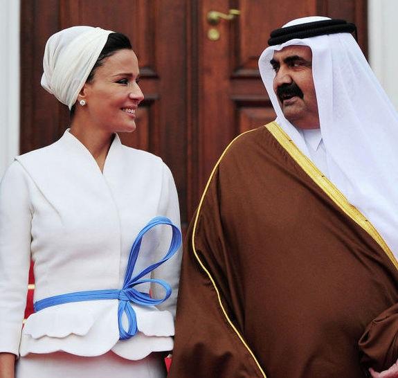 Шейха Моза и эмир Катара