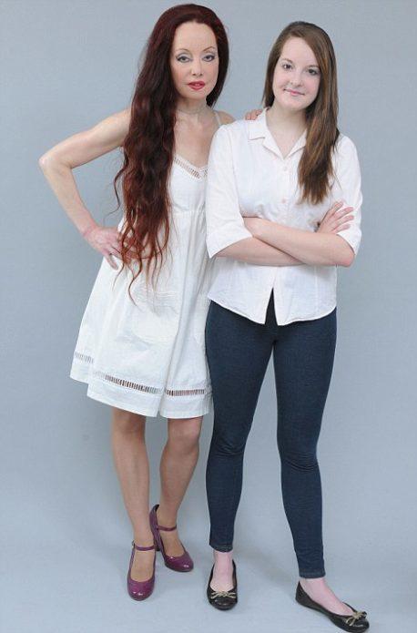Найлин с младшей дочерью Рейчел
