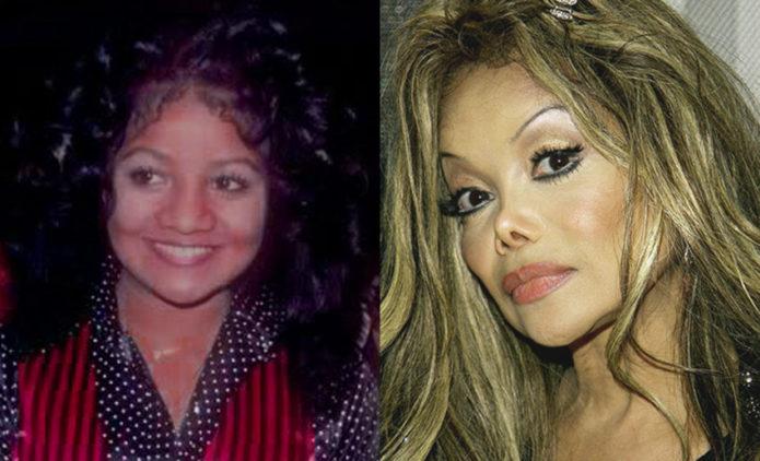 Ла Тойя Джексон до и после пластики носа