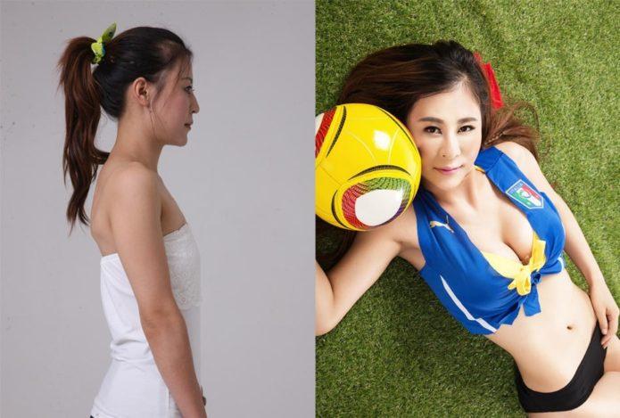Лу Ин до преображения внешности и после