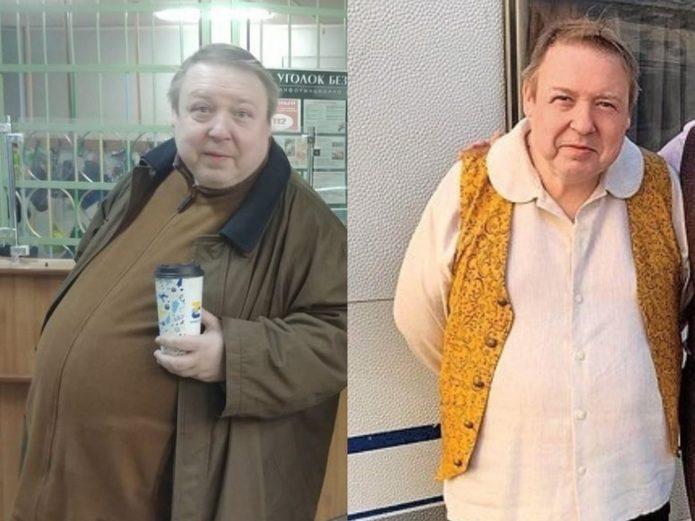 Александр Семчев до и после похудения