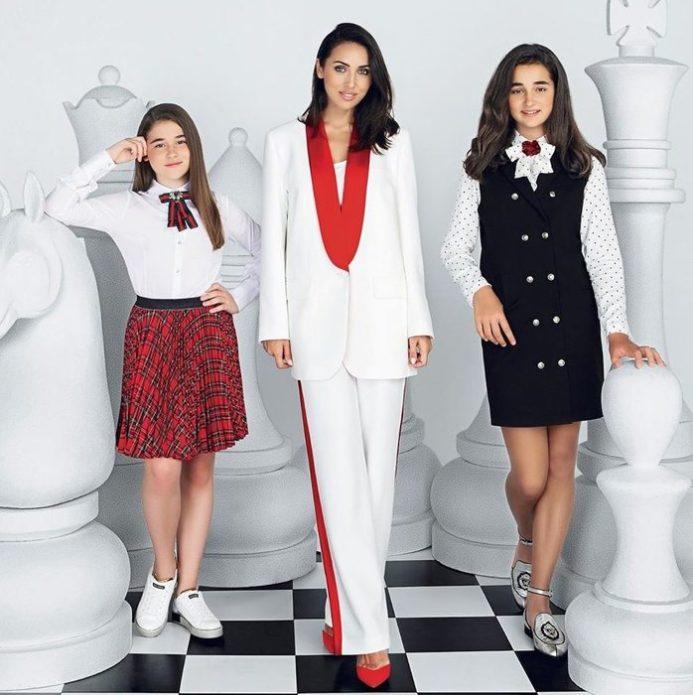 Алсу с Сафиной и Микеллой на фотосессии