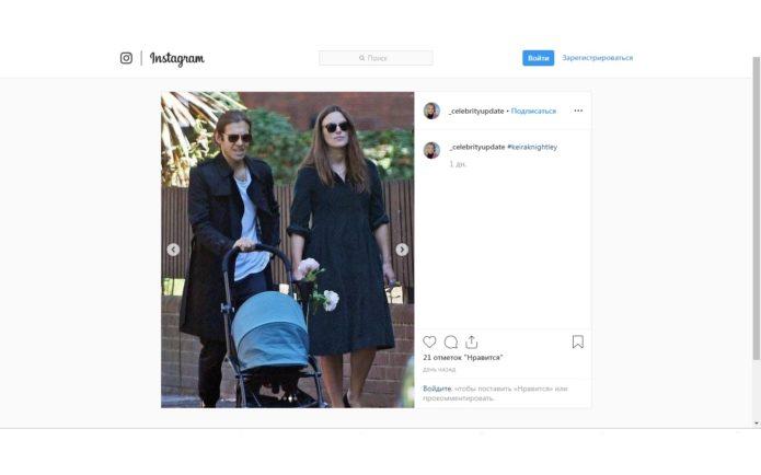 Кира Найтли с мужем на прогулке с малышом