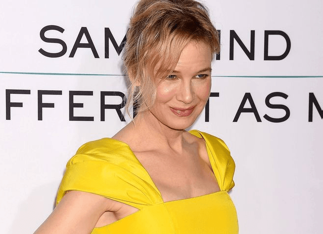 Рене Зеллвегер в желтом платье