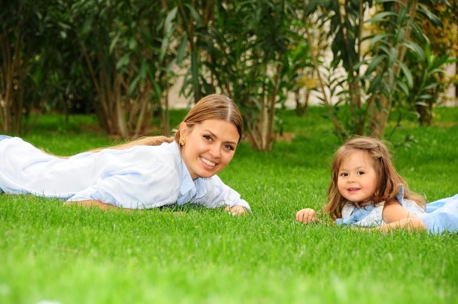 Виктория Боня и её дочка
