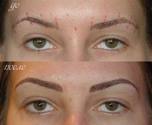 Татуаж бровей у женщин: фото до и после процедуры, отзывы о перманентном макияже