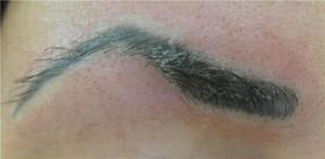Неудачное нанесение татуажа на брови