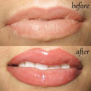 Татуаж губ: сравнение до и после процедуры