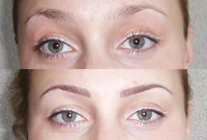Перманентный макияж бровей: как сделать самому в домашних условиях